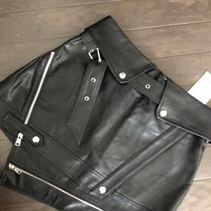 Brand new with tags, faux leather mini skort/skirt
